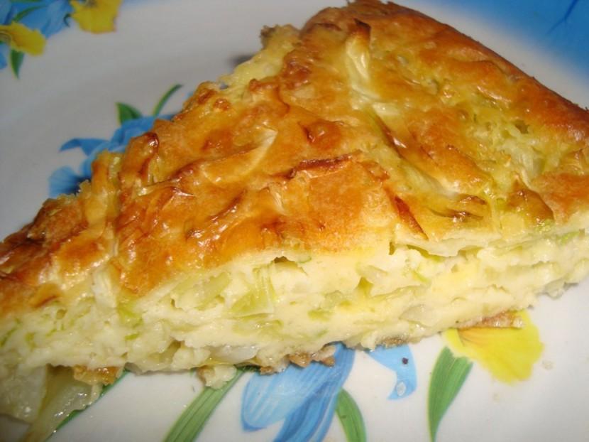 Вкусный заливной капустный пирог