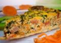 Пирог с тыквой, сыром бри, шпинатом и орешками