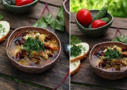 Капустный суп с карри и красной фасолью