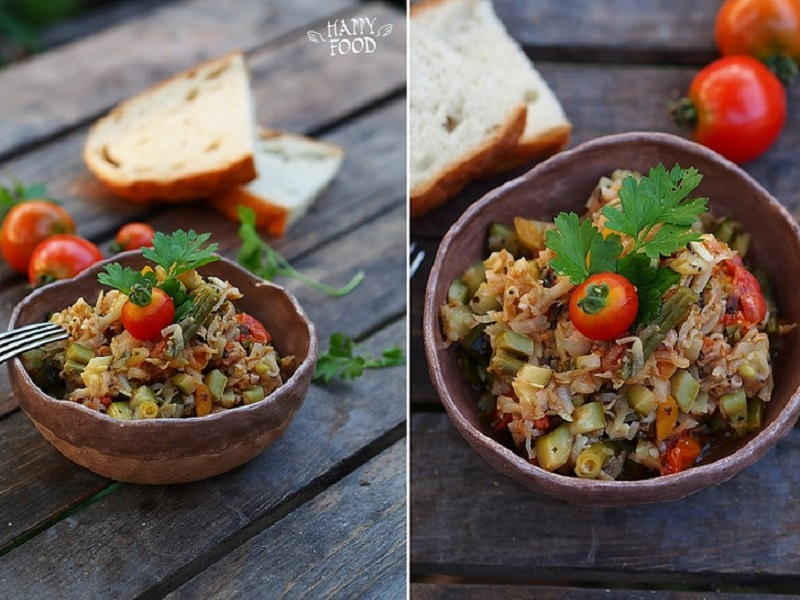 Овощное рагу с кольраби
