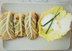 Вегетарианские голубцы с картофелем и грибами