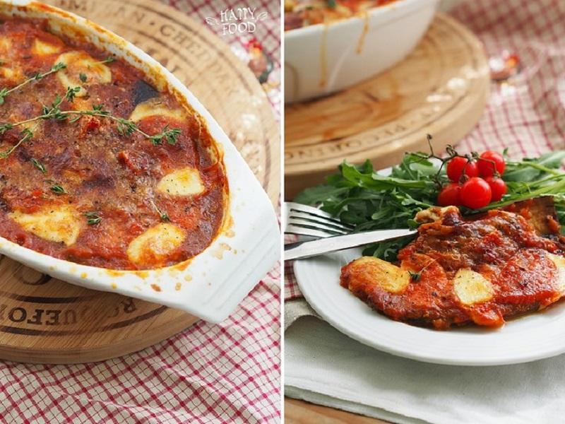Баклажаны с сыром и томатным соусом