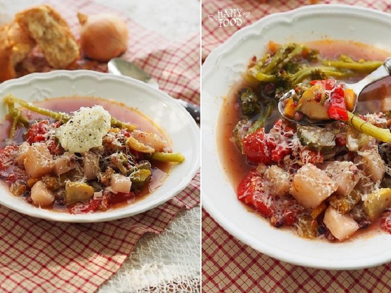 Густой осенний овощной суп