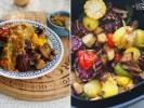 Овощи гриль с соусом сальса
