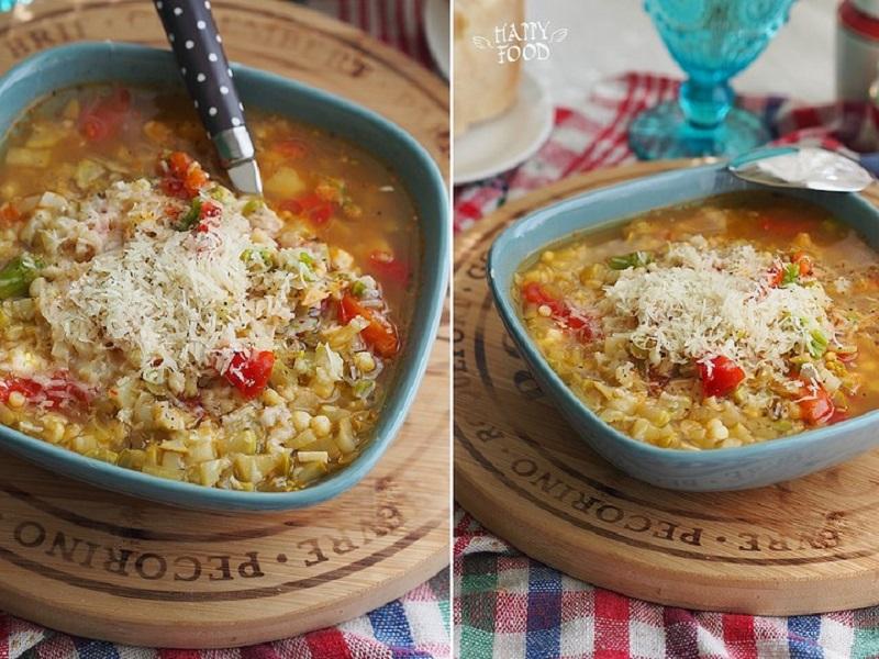 Суп минестроне (вариация)