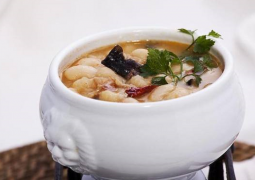 Грибной суп с белой фасолью