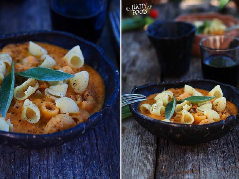 Густой суп-рагу из фасоли с пастой