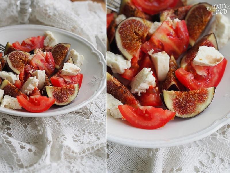 Салат с инжиром и брынзой