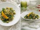 Рис со шпинатом и паровой брюссельской капустой