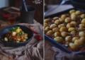 Картофель запеченный с томатами и перцем