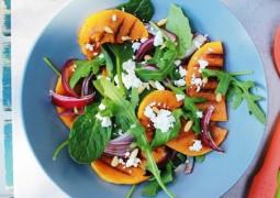 Салат с тыквой, фетой и кедровыми орехами