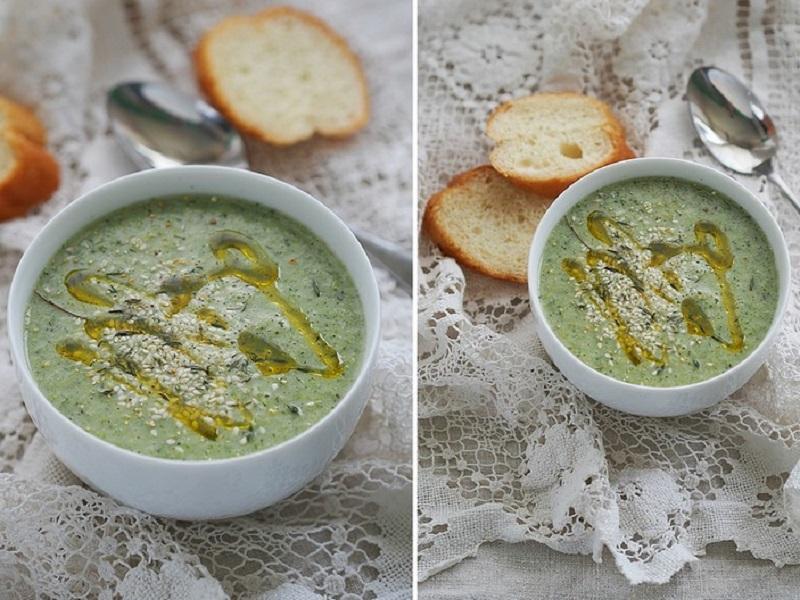 Суп-пюре из брокколи и порея