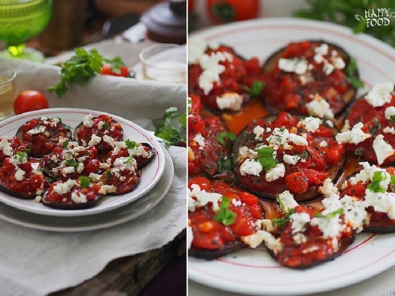 Баклажаны с томатами в греческом стиле
