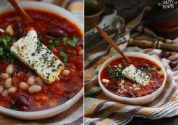 Фасолево-томатный суп с фетой в средиземноморском стиле