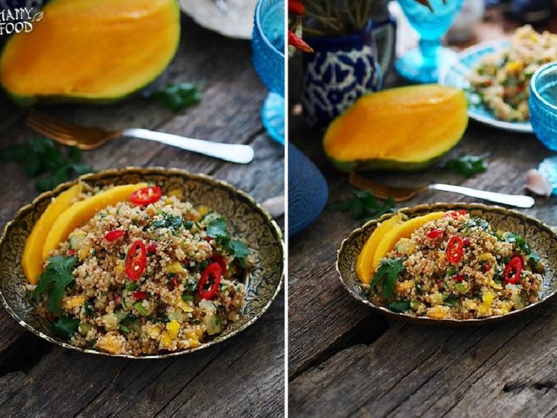 Кускус в азиатском стиле с манго
