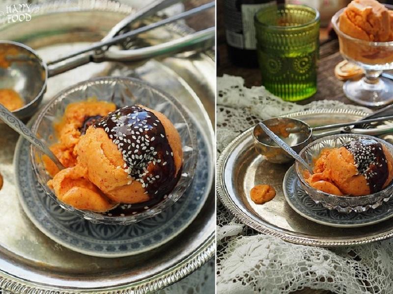 Мороженое манго-клубника на кокосовом молоке