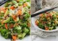 Салат из овощей-вок с имбирно-кунжутной заправкой