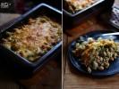 Запеканка из пасты с горошком и фасолью