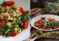 Кус кус с фетой, мятой и овощами