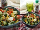 Салат с моцареллой, перцем, черри и заправкой «Лимон и горчица»