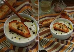 Чесночный суп с чеддером