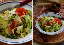 Простой салат с цуккини , томатами и пармезаном - insalata di zucchine novelle