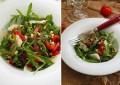 Простой салат с перцем гриль рукколой и пармезаном