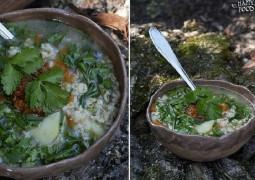 Суп хмели-сунели с овсянкой