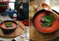 Суп-пюре томатный со шпинатом