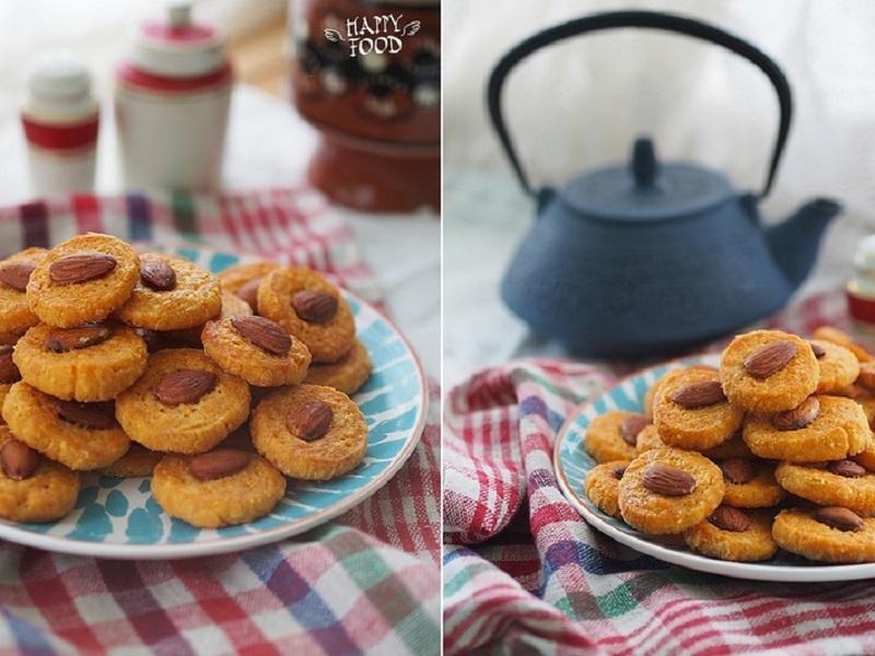 Сырное печенье с миндалем и паприкой
