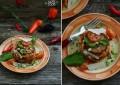 Тимбалини с баклажаном, бамией и вялеными томатами