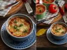 Гратен из цукини с томатным соусом с базиликом