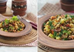 Гречка с овощами и карри