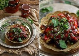 Салат по турецки с баклажанами