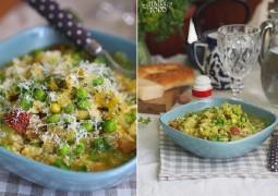 Суп аля минестроне с молодой капустой, вялеными томатами и сванской солью