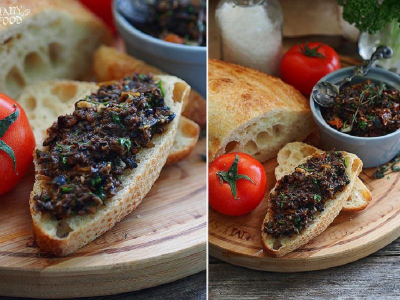 Тапенад из маслин и вяленых томатов с травами