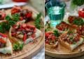Тосты с салатом из баклажан по-румынски
