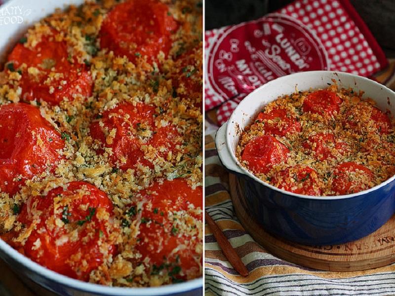 Запеканка с томатами и пастой — pasta e pomodori al forno