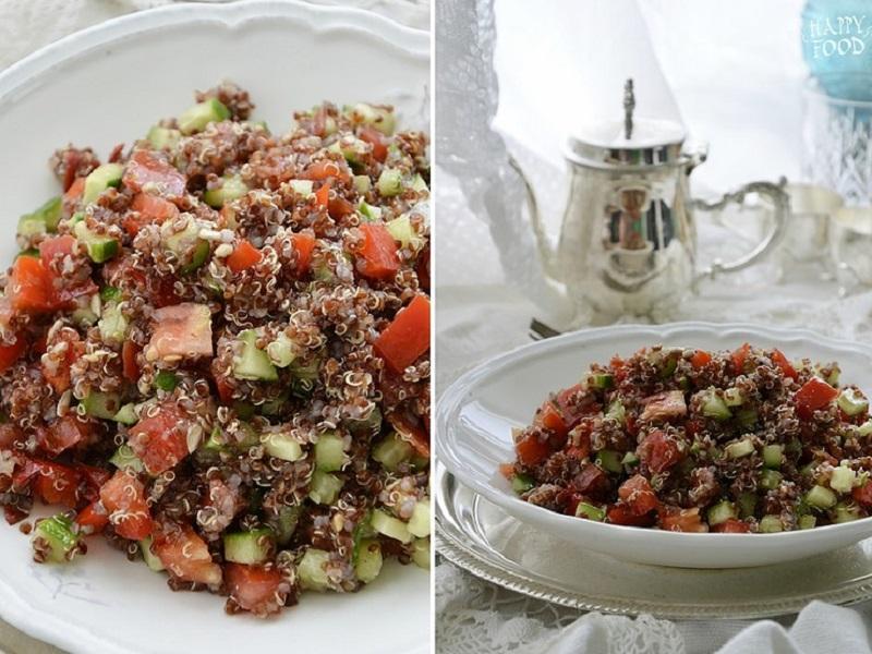 Простой салат с киноа и пряной заправкой