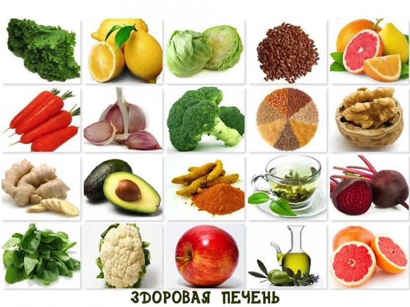 Здоровые продукты, что выгоняют токсины из печени