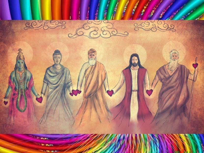Адья и Ф. Беннетт. Объятия Иисуса и Будды