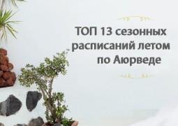 ТОП 13 сезонных расписаний летом по Аюрведе