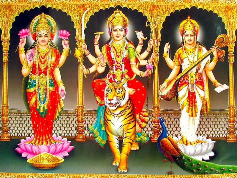 Ключевые женские энергии — Лакшми, Сарасвати, Дурга